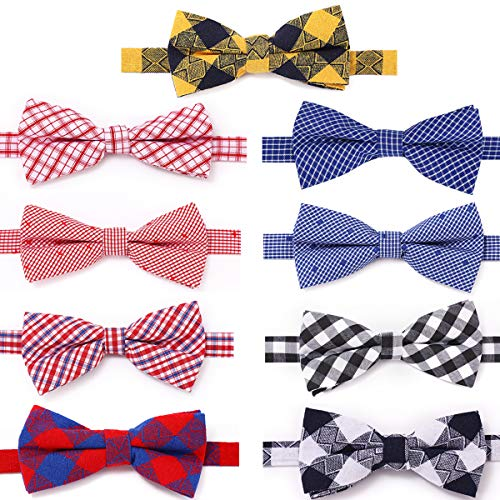 Freewindo Dog Bow Ties, 9pcs Dog Bows Adjustable Cat Collar Bows, Grooming Accessories for Small Medium Large Dogs and Adult Cats