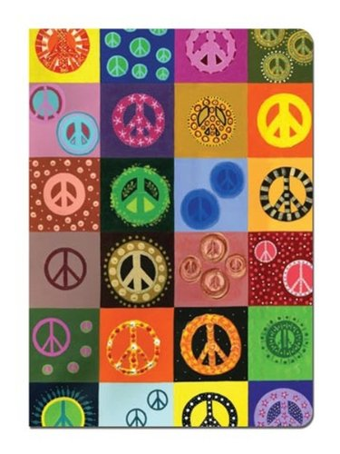 Peace Sign Journal - Peace is Everywhere Soft Cover Peace Sign Journal Notebook (5.5 x 7.5