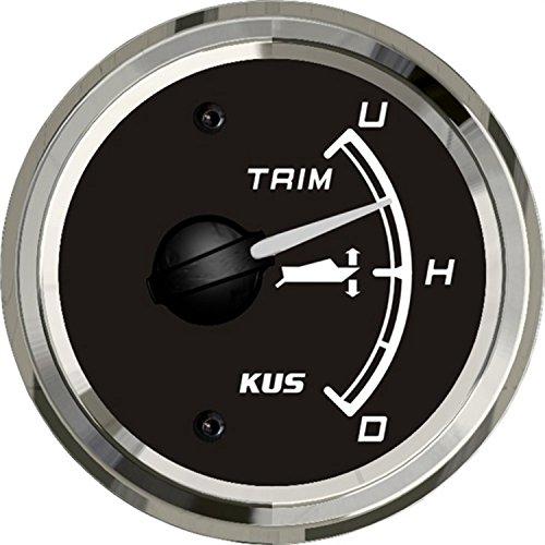 KUS Boat Yacht Trim Gauge Marine Trim Tilt Indicator for Outboard Engine 52mm 12/24V Black by KUS