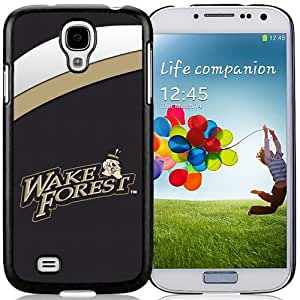 Fashionable And Unique Custom Designed With NCAA Atlantic Coast Conference ACC Footballl Wake Forest Demon Deacons 4 Protective Cell Phone Hardshell Cover Case For Samsung Galaxy S4 I9500 i337 M919 i545 r970 l720 Phone Case Black