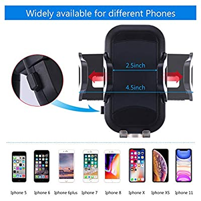 TDTOK [Upgraded] Car Phone Cup Holder, Adjustable Phone Holder Phone Mount for iPhone 11 Pro/XR/XS Max/X/8/7 Plus/6s SE Samsung Galaxy