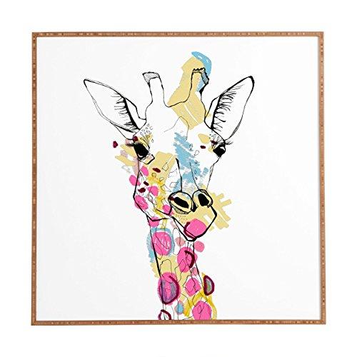 (Deny Designs Casey Rogers, Giraffe Color, Framed Wall Art, Medium, 20