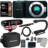 Blackmagic Pocket Cinema Mirrorless Camera + Rode Video Mic GO + Lexar 64GB + Sure GRIP Stabilizer + Polaroid Bag + Lenspen + Spare Battery & Charger + Tiffen Lens Cleaning Sheet + HDMI Cable