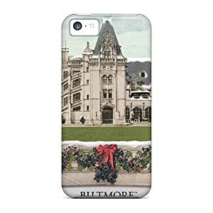 GYw35571lzdJ Cases Skin Protector For Iphone 5c Biltmore House Christmas With Nice Appearance