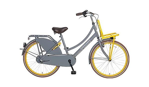 Bicicleta holandesa para mujer 24 pulgadas 3 marchas poza ZD gris ...
