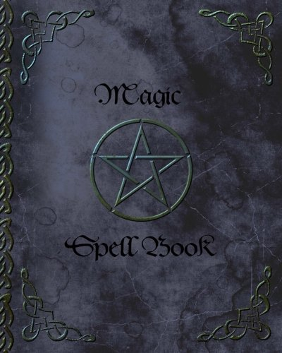 Magic Spell Book: of Shadows / Grimoire ( Gifts ) [ 90 Blank Attractive Spells Records & more * Paperback Notebook / Journal * Large * Pentacle ] (Magick -