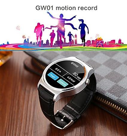 Ulefone GW01 Smartwatch-WeTech-Negro: Amazon.es: Electrónica