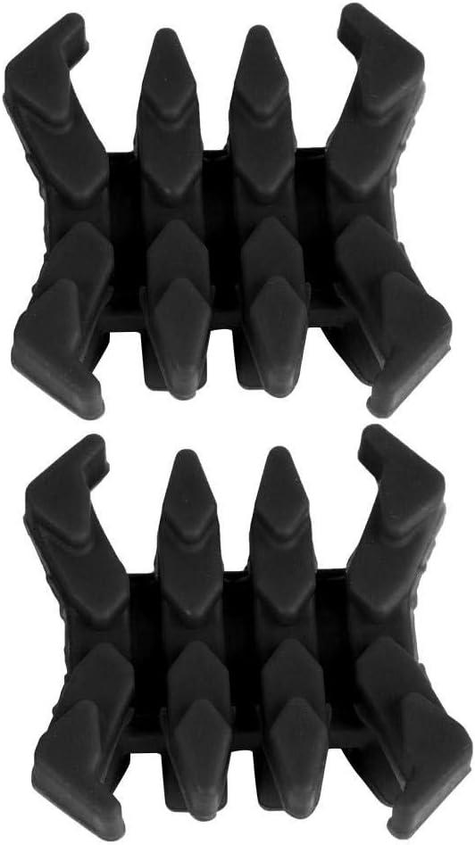 Arco de Goma extremidades del Arco Amortiguador de Vibraciones en Forma de Cangrejo Que Absorbe los Golpes Sliencer Archery Bow Accesorios 2 Piezas de Arco Compuesto estabilizador