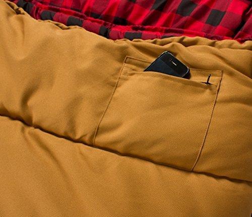Sports Deer Hunter 0F Sleeping Bag, Brown, Right Zip