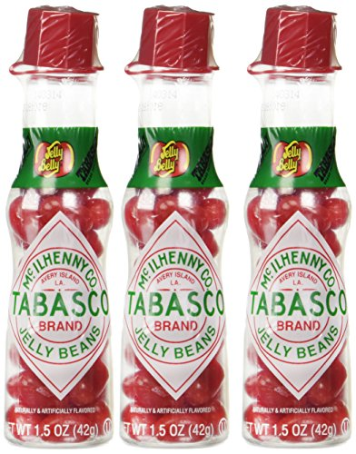 Jelly Belly TABASCO Jelly Bean 1.5 oz Bottles (Pack of 3)