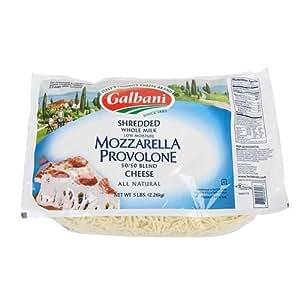 Galbani Professionale Whole Milk Low Moisture Mozzarella Provolone Blend 50 per 50 Shredded Cheese, 5 Pound -- 6 per case.