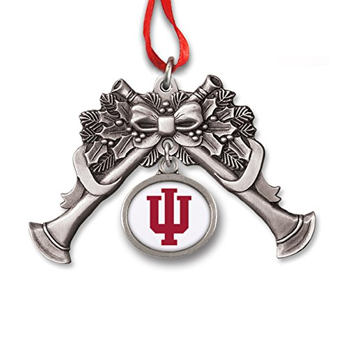 Indiana University Block IU Trumpet Charm Ornament IUOR2341 IMC-Retail
