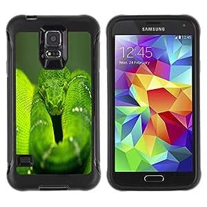 Suave TPU GEL Carcasa Funda Silicona Blando Estuche Caso de protección (para) Samsung Galaxy S5 V / CECELL Phone case / / Snake Green Nature Rainforest Reptile Tail /