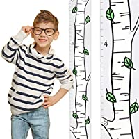 Growth Chart Art | Wooden Birch Tree Growth Chart for Kids [Boys and Girls] - Kids Room Décor Height Chart in 3X Fun Designs - Durable, Portable Birch Tree Décor
