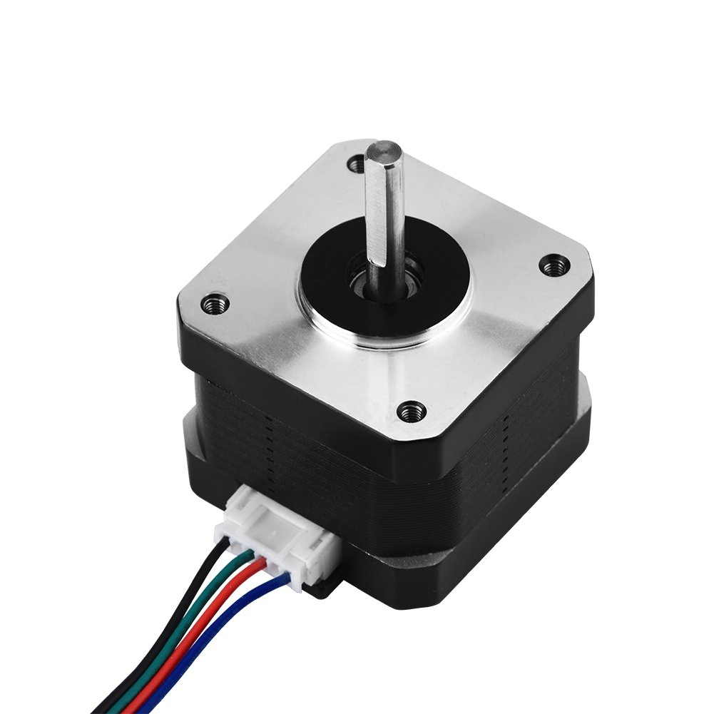Richer-R ASHATA 3D Printer Stepper Motor, 1Pc 4-lead 12V 1.3A 0.30Nm Stepper Stepping Motor 42 Low Noise and Big Torque for 3D Printer