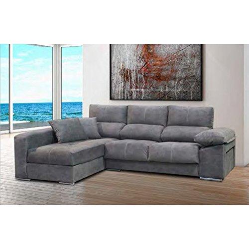AMUEBLALO - Sofá con Chaise-Longue, reclinable, Armazón de ...