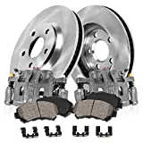 CCK02184 FRONT Original [2] Remanufactured Calipers + [2] OE Rotors + Low Dust [4] Ceramic Pads Kit