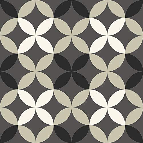 Sienna Wood Floors - FloorPops FP2479 Clover Peel & Stick Tiles Floor Decal, Gray