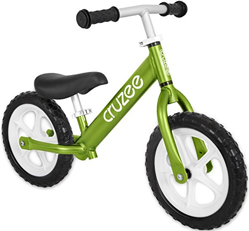 Cruzee UltraLite Balance Bike (4.4 lbs) for Ages 1.5 to 5 Years | Green– Best Sport Push Bicycle for 2, 3 & 4 Year Old Boys & Girls– Toddlers & Kids Skip Tricycles on the Lightest First Bike 1