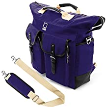 Lencca Universal Hybrid 3 in 1Design Carrying / Tote / Messenger / Crossbody / Backpack / Shoulder Bag for Apple Macbook Pro 15.4 / Acer / ASUS / Dell / Samsung / HP / Lenovo / Toshiba / MSI fit up to 15.6 inch Notebook / Google Chromebook / Ultrabook / Laptop (Royal Blue)