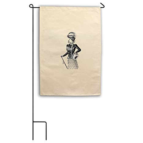 Victorian Lady Vintage Look Canvas Yard House Garden Flag 18u0026quot;x27u0026quot;  ...