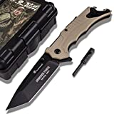 HX OUTDOORS EDC Companion Knife Made from 9Cr14Mov Stainless Steel Blade and G10