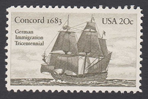 1983 German Immigration Tricentennial Concord 1683 USA 20¢ Postage Stamp