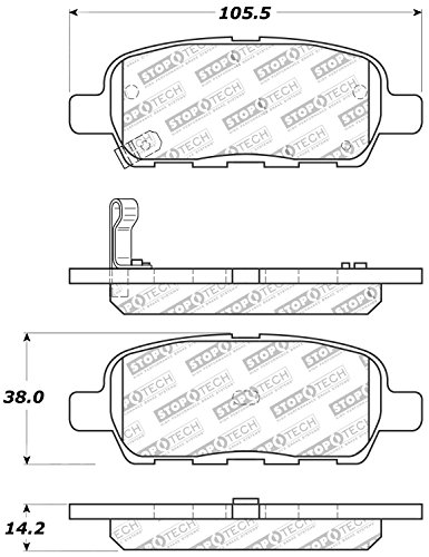 StopTech 309.09050 Street Performance Rear Brake Pad