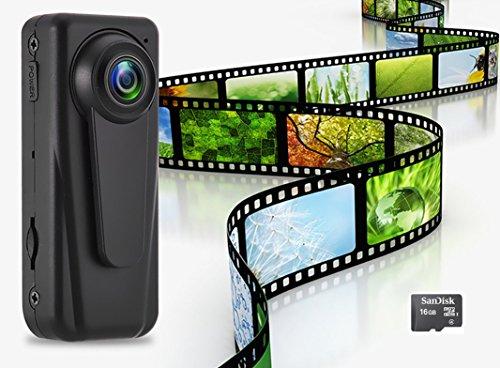 newstar 小型カメラ 証人シリーズ 1080P 本格 シーモスセンサー レンズ 140° 広角 クリップ型カメラ ウエアラブルカメラ アクションカメラ スパイカメラ 16gb付属