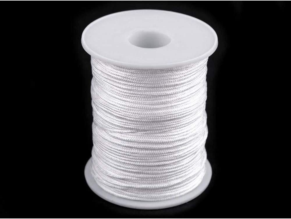 Haberdashery 100m Hite Drapery Window Blind Cord//Beading String /Ø1.4mm Twisted Cords And Blinds Strings