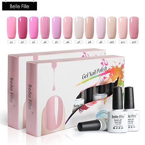 Belle Fille Nude Nail Polish 10ml 12 pcs Pure Color Series U