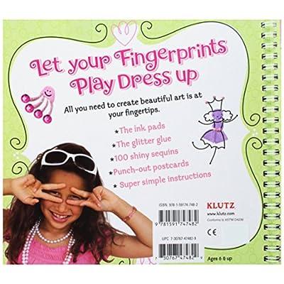 Klutz Fingerprint Fabulous: Create Sweet and Sparkly Thumbprint Art Craft Kit: The Editors of Klutz, Burton, Bonnie: Toys & Games
