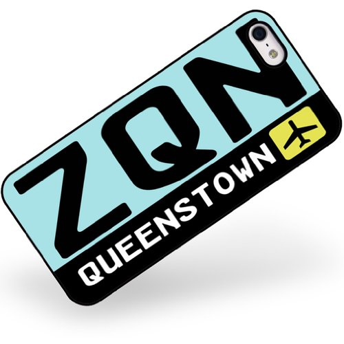 rubber-case-for-iphone-5-5s-airport-code-zqn-queenstown-country-new-zealand