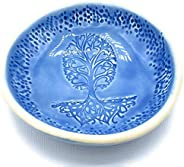 B JANECKA Tree of Hearts Bowl, 6 x 1 Inches, Handmade in USA, Pottery 9th Anniversary Gift