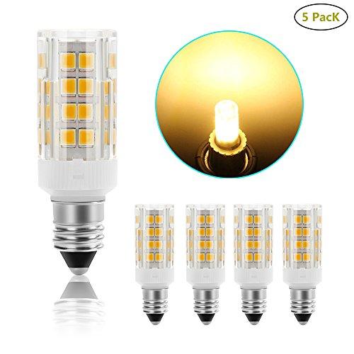 [Pack of 5]SHKNH Candelabra E12 Base Led Light Bulb 3.5W, Repalcement 40W E12 Halogen Lamp,350Lm, JD T4 Bulb,