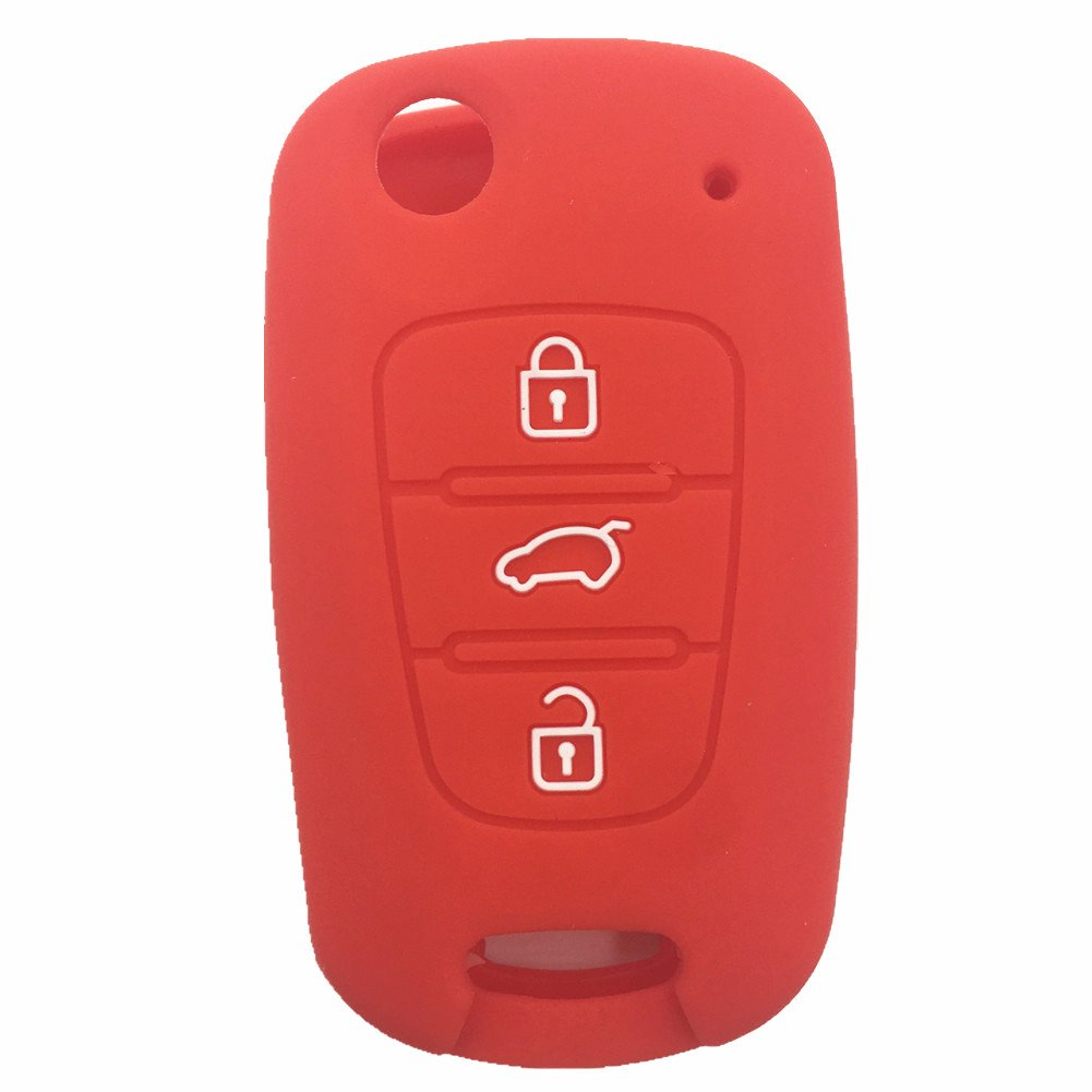 Amazon com new replacement keyless entry new fob shell 3 buttons flip folding remote key case shell fit for kia k5 k2 sportage rondo soul rio
