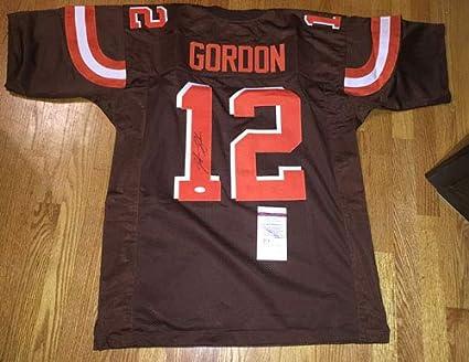 online store 2c22c 87fac JOSH GORDON Signed Autographed Browns Custom Away Jersey JSA ...