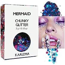 Mermaid Chunky Glitter ✮ COSMETIC GLITTER KARIZMA ✮ Festival Beauty Makeup Face Body Hair Nails