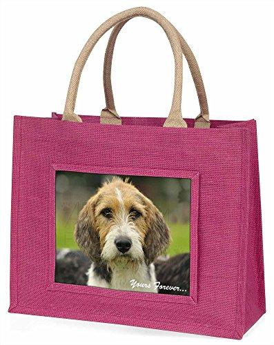 Advanta Welsh Fox Terrier dogyours Forever. Große Einkaufstasche/Weihnachtsgeschenk, Jute, pink, 42x 34,5x 2cm