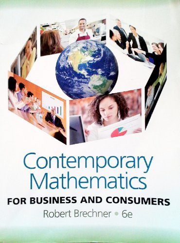 Download Contemporary Mathematics For Business and Consumers, 6th Edition pdf epub