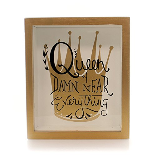 Primitives By Kathy Shadow Box Sign - Queen