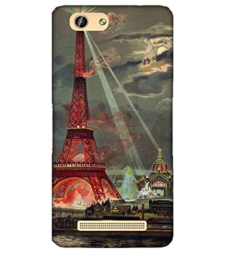 For Gionee F103 eiffel tower Printed Cell Phone Cases