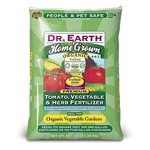 Dr. Earth Home Grown Tomato, Vegetable & Herb Fertilizer 25 lb
