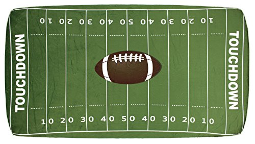 Football Crib Bedding - Dear Baby Gear Deluxe Crib Sheet Sports Collection Minky Fitted Crib Sheet, Football Field, 52 X 28 X 10 Inches