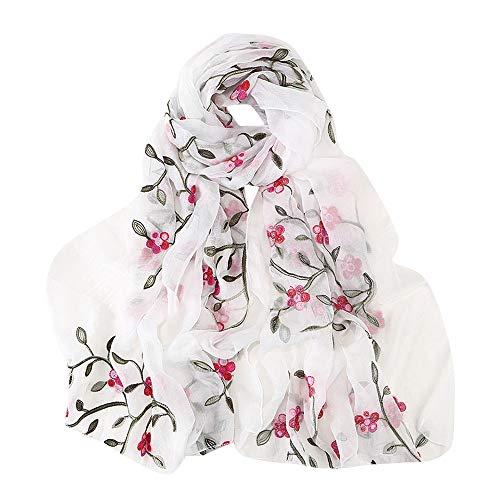 Hijab Scarfs for Women Hot Sale,deatu Clearance Ladies Embroidery Chiffon Wrap Shawls Headband Muslim Scarf(A)