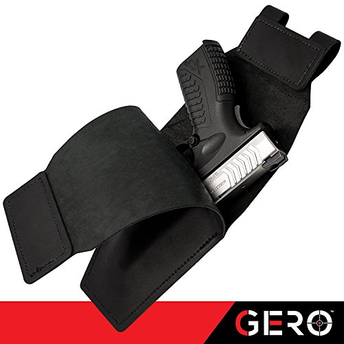 - Gun holster Belt Concealed by GERO for Small Semi Autos & Pocket Pistols-Fits Gun Smith and Wesson Bodyguard, Glock 19, 17, 42, 43, P238 Ruger LCP, Similar Sized Guns-Ambidextrous Wear On Either Hip