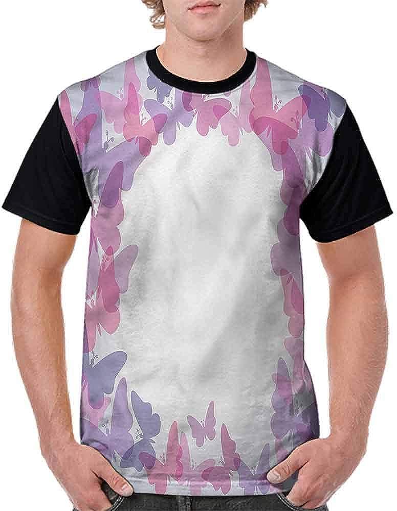 BlountDecor Unisex T-Shirt,Fantasy Vibrant Color Fashion Personality Customization