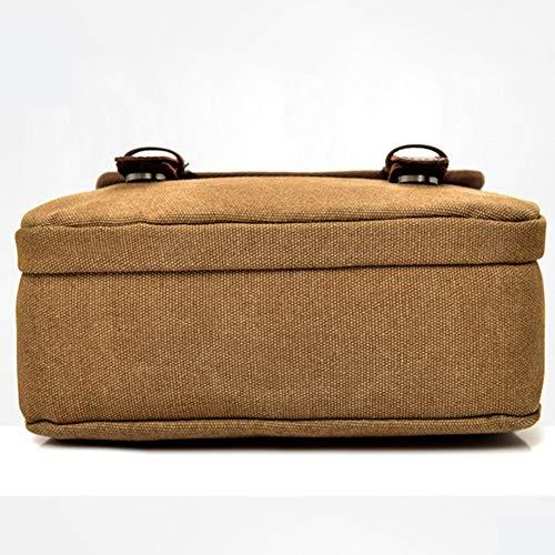 Nanad Unisex Militari Marrone scuola Marrone Tasche multiple Viaggi Pelliccia Stile e per Sport Tracolla uomo vintage Tela Lavoro tSfwxtrAq8