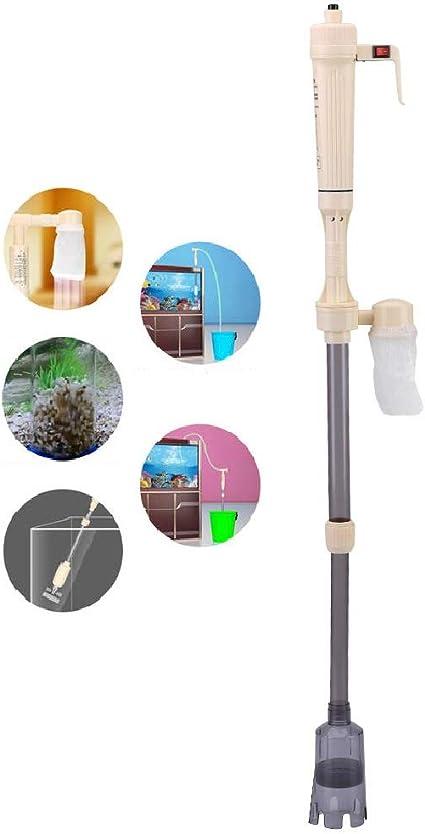 Limpiador eléctrico automático de grava para acuarios, herramienta de limpieza de cambio de agua con sifón de tanque de peces, cambiador de agua automático para extracción de lodos (1 * tubo de