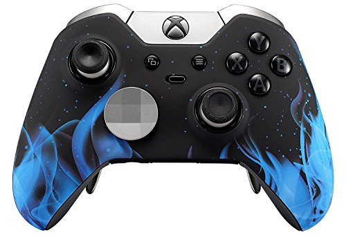 Blue Fire Rapid Fire Custom Modded Controller Compatible with Xbox One Elite 40 Mods for All Major Shooter Games, Auto Aim, Quick Scope, Auto Run, Sniper Breath, Jump Shot, Active Reload & More (Xbox One Master Mod Controller)